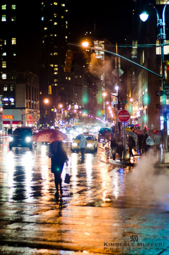 NYC Cityscape, New York City Photography, Fine art, Color Photography, Street Photography, Rainy Day, Home Decor