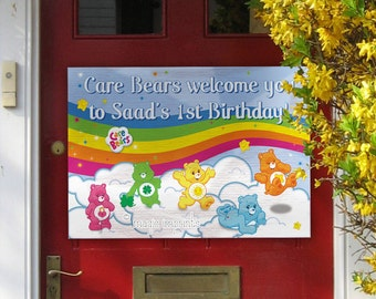 Care Bears party welcome sign (PRINTABLE)