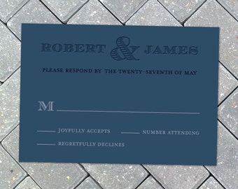 Same Love, Grooms - Response Card
