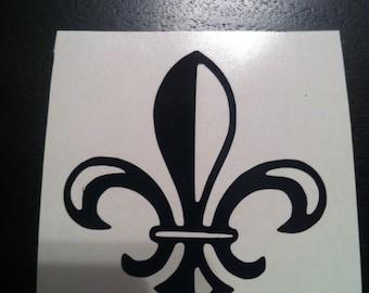 4 inch Vinyl Fleur de Lis decal