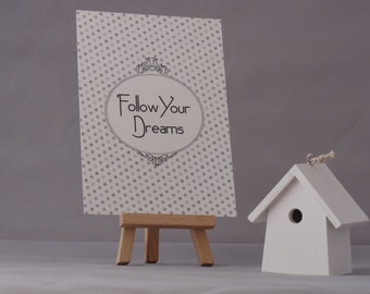 "Card mailing ""Follow Your Dreams"""