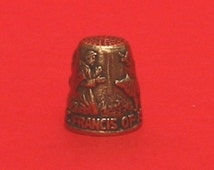 St Francis of Assis Thimble Pewter Collectors Thimble