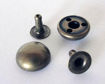 20 Sets Brushed brass Rivets