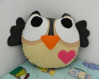 Cute Little Owl Felt Home Decoration / Toy