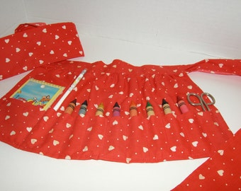 Child's Apron with Art Supplies