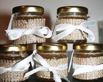 Honey Wedding Favour, Pure Honey, Burlap, Rustic Wedding, Spring Wedding