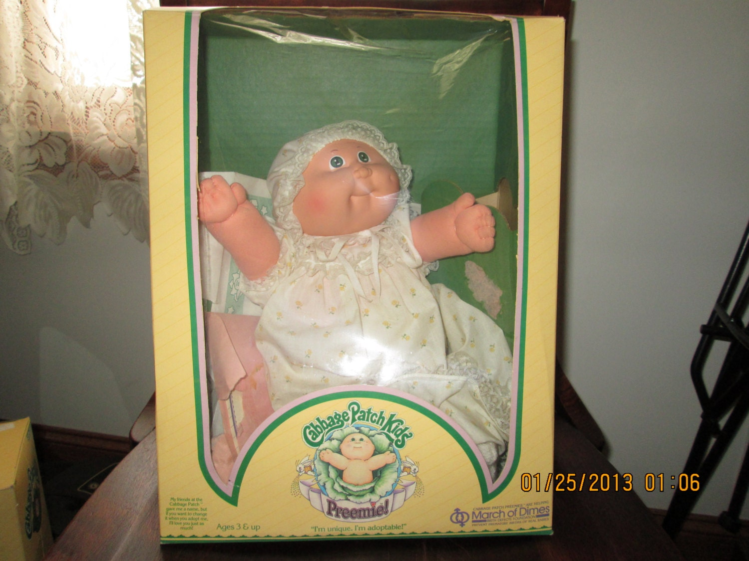 Vintage 1984 Cabbage Patch Kids Preemie Karlotte Justina With