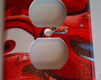 Disney Cars Lightning McQueen Print Outlet Plate Cover