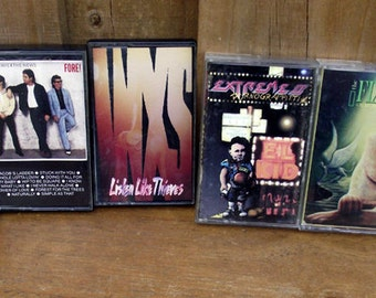 1980s Rock and Roll Cassette Collection