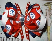 Red White and Blue sailor girl hair bow
