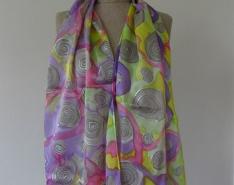Handpainted silk shawl