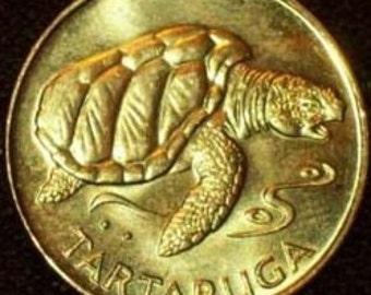 Coin Connoisseur - Cape Verde Turtle coin - Tartaruga - Sea Turtle - uncirculated - km27 - 1 escudo