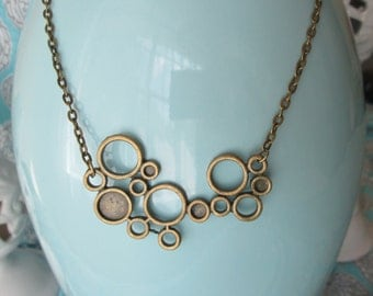 Antique Bronze Circles Necklace by The Darling Duck