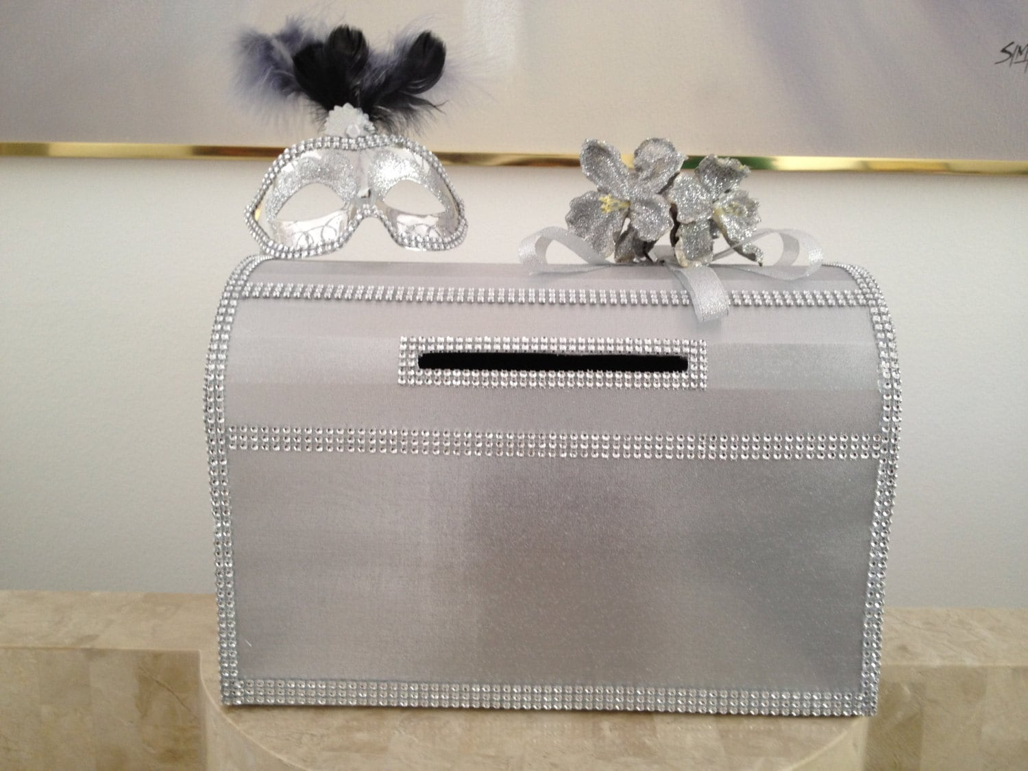 Invoice Templates 2019 Silver Wedding Reception Gift Card Holder