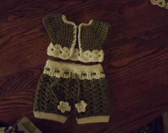 Infant Shorts, Skirt and Shrug Pattern