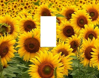 Sunflowers Beautifull Nature Lanscape Flowers light switch plate New Flora theme home decor
