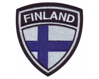 Finland Crest Flag Embroidered Patch