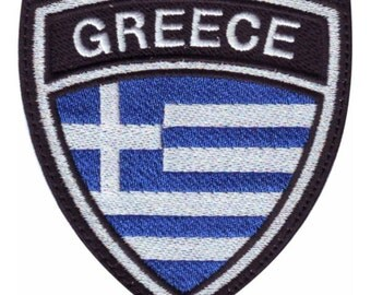 Greece Crest Flag Embroidered Patch