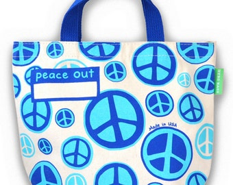 Organic Cotton Lunch Bag: Peace