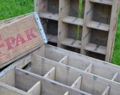 Wood and Medal Par-T-Pak Crates with Dividers
