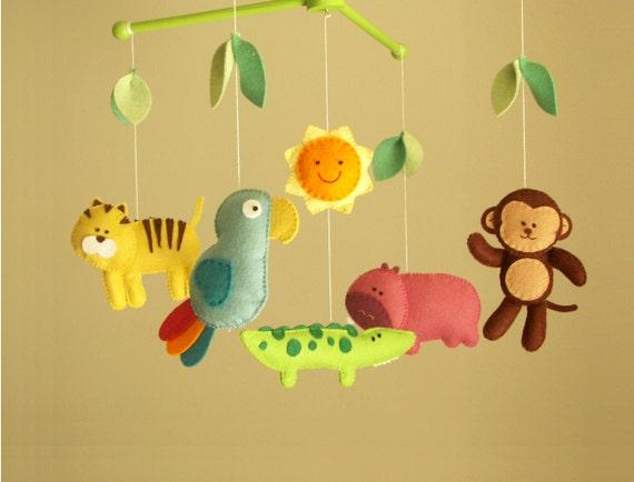 Ähnliche Artikel wie Baby-Krippe Mobile, Dschungel mobile, Tier ...