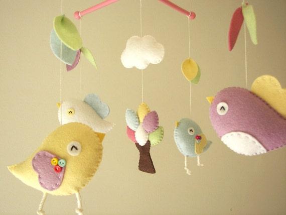 Baby Crib Mobile Bird Mobile