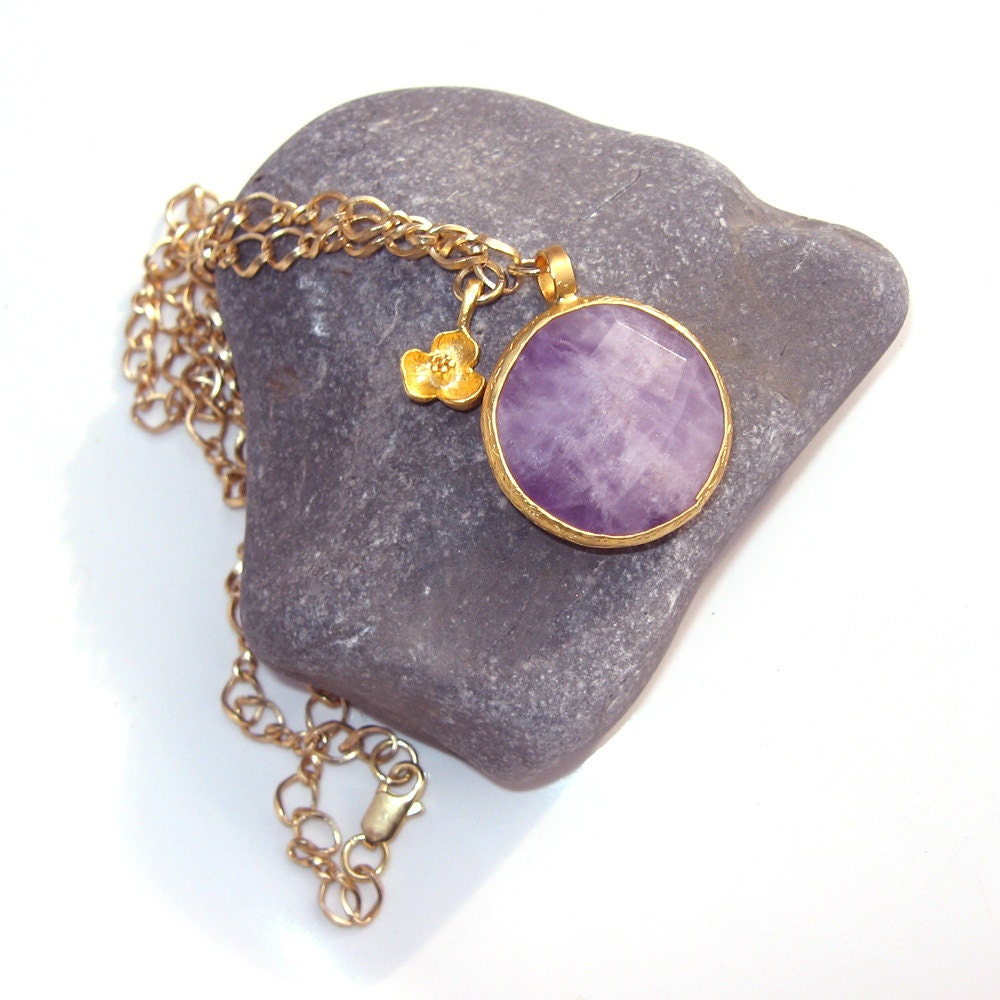 amethyst stone necklace - photo #10