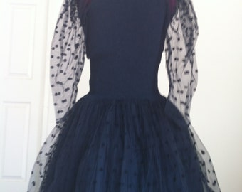Black Punk tuille dress size small