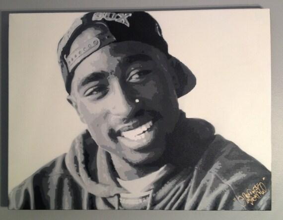 "Items Similar To Tupac Shakur ""Shakespeare"" Stencil Art On"