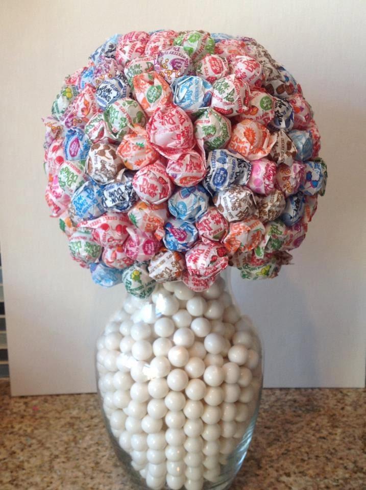 Items similar to dum lollipop flower ball vase candy