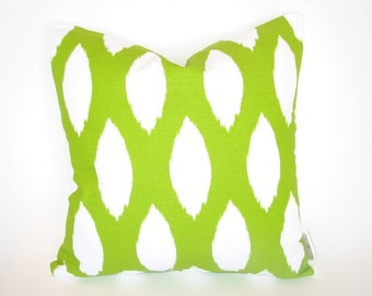 Premier Prints Chipper Chartreuse Green Decorative Throw Pillow Cover 18x18 inch hidden zipper