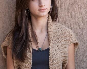 Short Sleeves Knitted Bolero Jacket