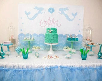 Complete Printable Collection for a Mermaid Birthday Party / Mermaid Party