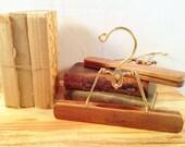 Vintage Harmony House Wood & Metal Hangers - Pair