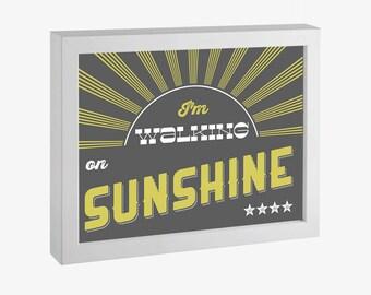 I'm Walking on Sunshine Printable