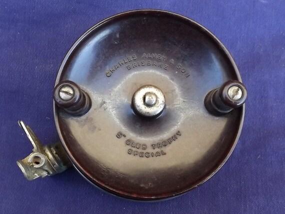 Vintage big game fishing reel bakelite steel by for Reel steel fishing