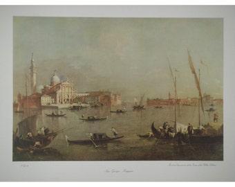 San Giorgio Maggiore Print by F Guardi 43cms by 55cms