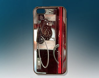 Quaint Old New York Pay Phone Booth iPhone Case 4, 4s, 5, 5C, 6, 6+ and Samsung Galaxy 3, 4, 5, 6, Edge