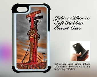 Red Kamikazee Fair Ride Against Dramatic Sky iPhone Case 4, 4s, 5, 5C, 6, 6+ and Samsung Galaxy 3, 4, 5, 6, Edge