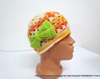 Crochet Girls Hat, Crochet Hat Baby, Girls Hat, Baby Spring, Cloche Hat, Spring Hat Girls,Baby hat, Baby Cloche Hat