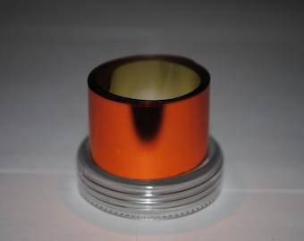 Sale! 3 meters Orange Copper Metallized foil film coating for nails