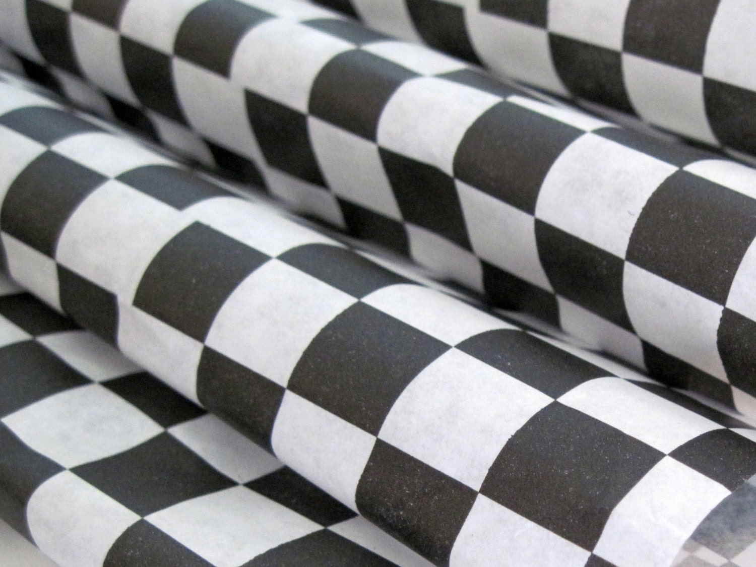 Checkered Wax Paper Wax Paper-25 Sheets of Black