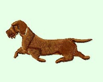 Embroidery pattern - Wire-haired dachshund