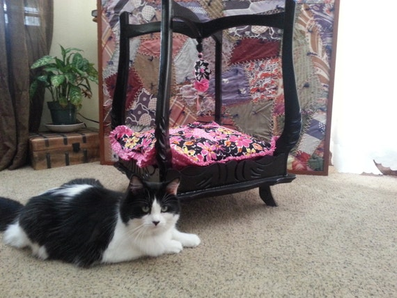 Hand Made Fancy Pet Bed Made From Repurposed Table By