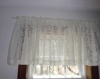 Ecru Lace Curtains Etsy