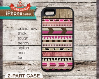 iPhone 6, 6+, 5 5S, 5C, 4 4S, Samsung Galaxy S3, S4 Modern Graphic No. 47c Pink Aztec Tribal Geometric design