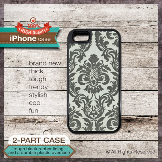 iPhone 6, 6+, 5 5S, 5C, 4 4S, Samsung Galaxy S3, S4 Floral Damask Design 1