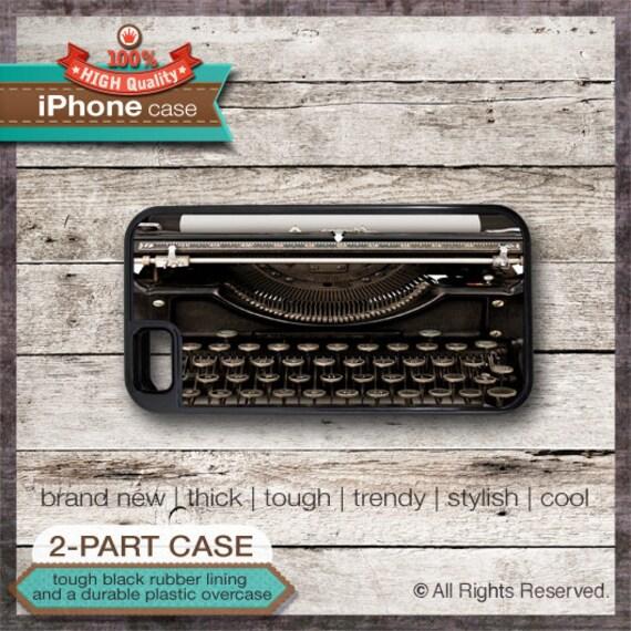 Vintage Dark Brown Black Typewriter - iPhone 6, 6+, 5 5S, 5C, 4 4S, Samsung Galaxy S3, S4