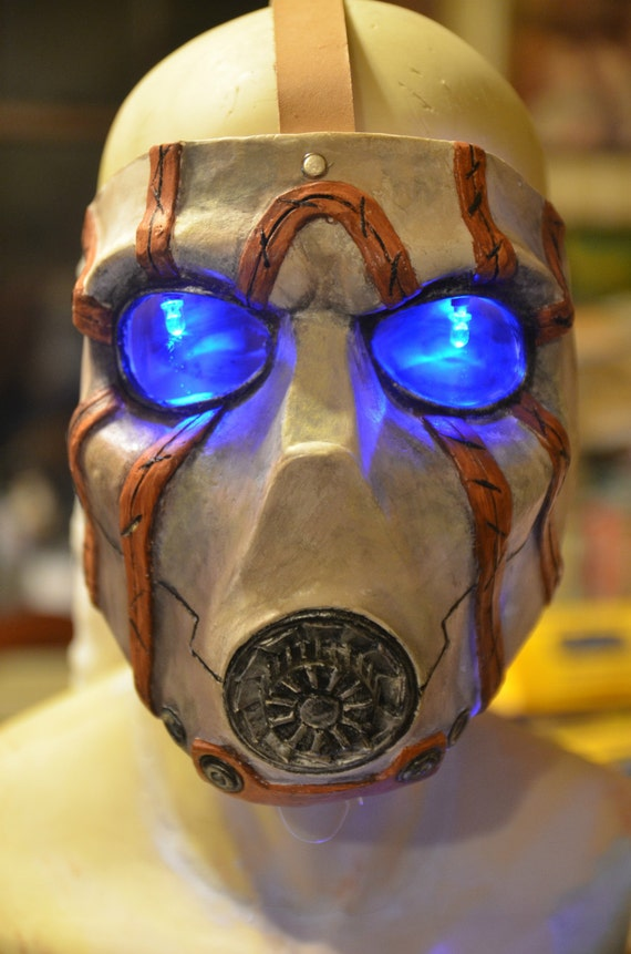 Borderlands Bandit Mask with Leather Straps and Led eyes - Made to order ** soon to be retired**