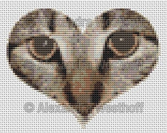 "cross stitch chart ""Herzmina"""